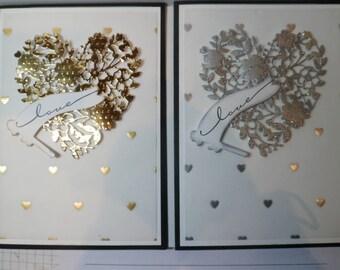 Custom Valentine card, Wedding Card, Handmade Anniversary Card,  Love card, Celebrate You card, Custom Greeting card