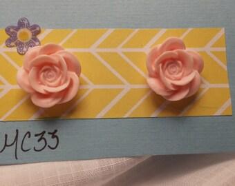 floral earrings, flower earrings, rose earrings