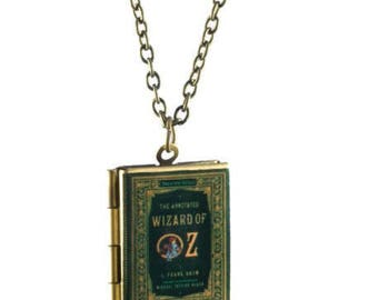 The Wizard of Oz Book Locket Necklace