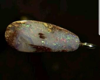 Opal BOULDER AUSTRALIA 4.02 carats, natural to 100%, solid silver 925