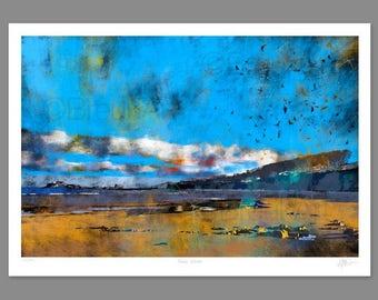 Fidra, Winter. Large Giclee print.