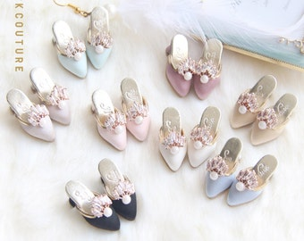 SK Couture Limited Edition Vintage Zircon Shoes for Blythe, Pullip, Momoko, PureNeemo XS-M, Poppy Parker