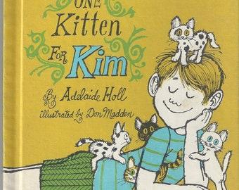 Vintage One Kitten for Kim Children's Book, C1969