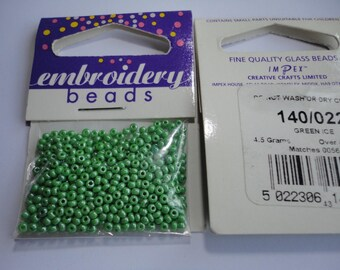 seed beads embroidery (022) 2mm fine green