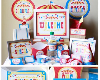 Carnival Party Decorations - Carnival Birthday - Circus Birthday Decoration - Carnival Decorations - Carnival Theme Party - Carnival Signs
