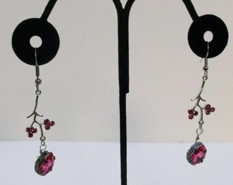 Cherry Blossom Dangle Earrings