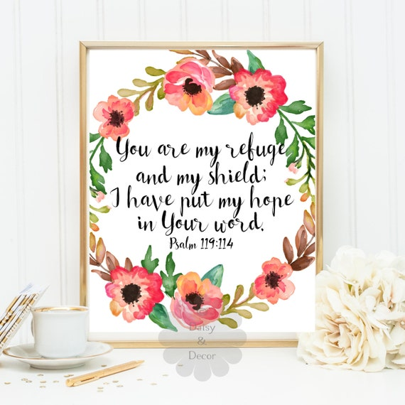 Psalm bible verse printable scripture print you