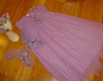 Flower fairy princess lavender dress womens siz 16 Halloween Costume cosplay fantasy flower nymph ready to ship unique