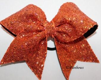 Super Glitzy Sequin Cheerleading Hairbow in Orange ALLSTAR