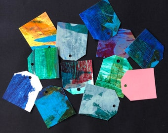 12 Hand Painted Gift Hang Tags - Keep It In Your Room - Meg Marano