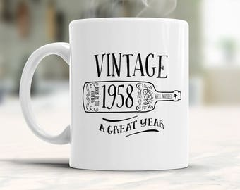 60th Birthday, 60th Birthday Gift, 60th Birthday Idea, Vintage, 1958, Gifts For Him, Gifts For Her, 60th Birthday Present for 60 year old!