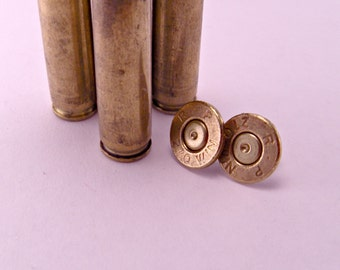 Annie Get Your Gun Recycled Spent Brass Bullet Shell Earrings Pierced