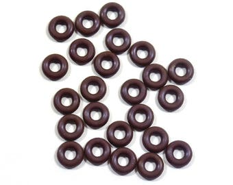 5mm Chocolate Rubber O-Rings
