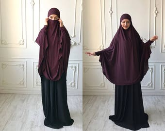 Transformator Marsala Khimar, Niqab Burka, Granet Niqab, traditionellen Burka, Französisch Hijab, bereit um zu tragen Hijab, lange Hijab, Burka, langen khimar