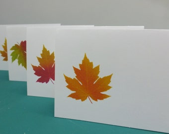 Autumn Place Cards, Autumn Leaf Placecards. Fall placecards, Vintage Botanical Illustrations, Assorted Fall Colors