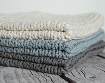 Mini baby blanket, newborn photo prop, natural cotton baby blanket, layering blanket baby boy, hand knitted toddler blanket, newborn girl