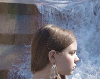 Reserved / Patricia Von Musulin Earrings, Lucite Earrings, Drop Earrings, Avant Garde, Clear Lucite Earrings, Big Earrings