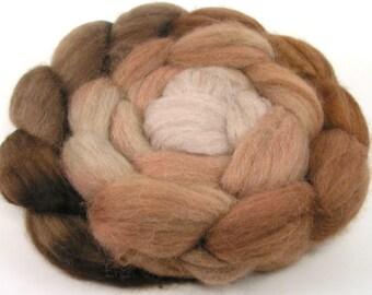 Filature fibre - Baby Alpaga peigné haut - Cappuccino - gradient teintée de mèche