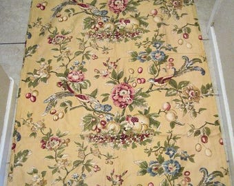 Vintage Chintz Fabric Featuring Birds of Paradise Waverly