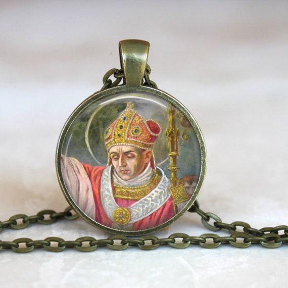 Saint Stanislaus of Szczepanów Pendant - Bishop and Martyr of Kraków - Saint Stanislaus Bishop Martyr of Szczepanów -Patron Saint of Poland