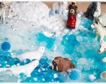 Arctic Animals Set Winter Sensory Hydrogels Bin