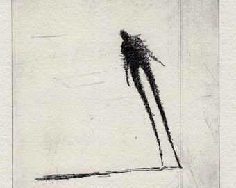 "ORIGINAL ETCHING ""Walking VIII"""