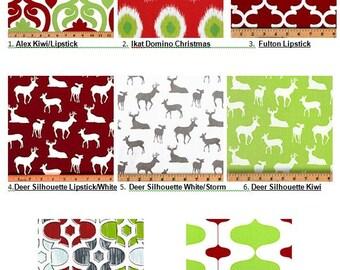 Christmas Pillow Covers, Christmas Pillow, Christmas Decor, Red Green Holiday Decor, Deer Holiday Pillows, Decorative Throw Pillows