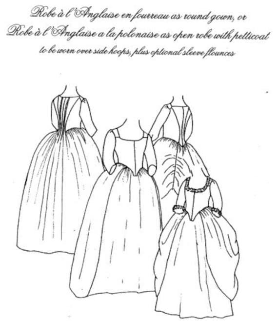 Robe A La Polonaise: JPR07 JP Ryan 07 Robe A L'Anglaise Sewing Pattern