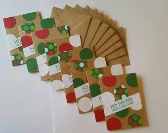 Holiday Christmas Polka Dot Cards, 8 pack