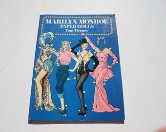 Vintage Marilyn Monroe Paper Dolls, Movie Star Uncut Cutouts Paper Doll Booklet, Tom Tierney 1979