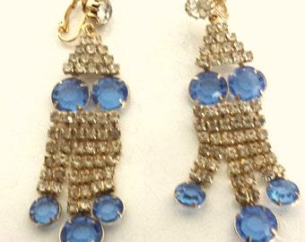 Vintage rhinestone clip-on earrings