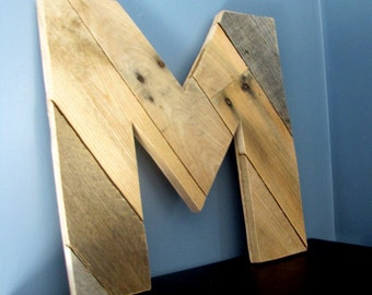 Planked Rustic Letters with Reclaimed Wood