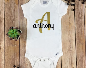 Name Bodysuit / Initial Bodysuit / Coming Home Outfit / Baby Name Creeper / Coming Home Outfit / Baby Shower Gift / Baby Photo Prop