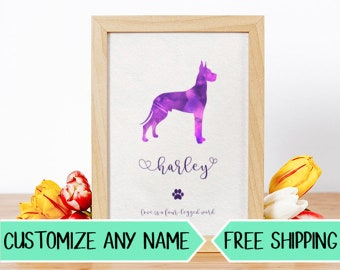 P11 Custom Dog Silhouette Personalized Pet Art