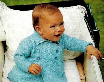 LEE TARGET 6412 Baby Pram Coat Original 1960's Vintage Knitting Pattern PDF Instant Download