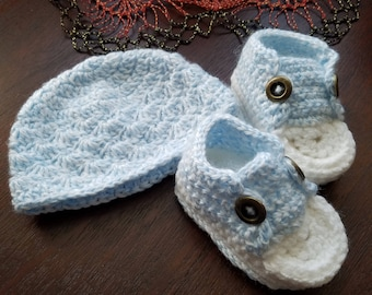 Baby Bootie and Beanie set