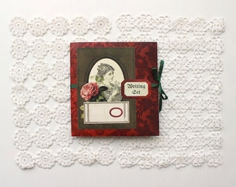 Printable Christmas Journal Kit for Junk Journal or Mini Album - Greeting Cards, Notepaper & Stationery Set