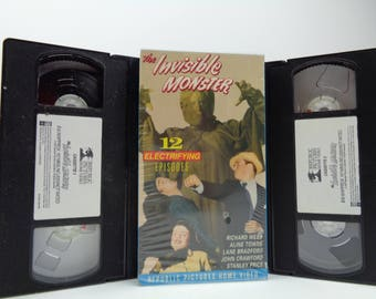 The invisible monster VHS Tapes