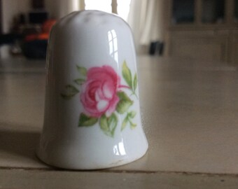 Bone china vintage thimble