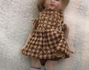 "4"" All Original  Antique Doll House Doll"