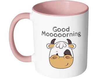 Cow mug | Good morning Mug | Kids mugs | Farm mug | Gifts for him - her - mom - dad - teacher - friends - children | Farm Birthday gift Mugs