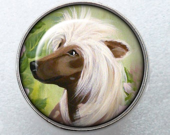 Chinese Crested Ring ~ April Birthday ~ Crested Owner ~ Dog Ring ~ Gifts For Her ~ Pet Keepsake