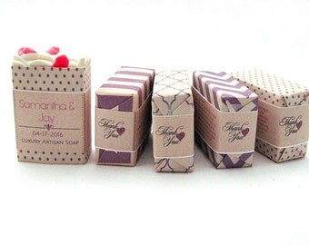 Personalized Soap Wedding Favors, Bridesmaid or Bridal Shower Gift
