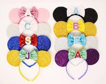 Disney Princess Ears w/ Initial | Minnie Mouse ears | Minnie ears headband | Disneyland ears | Minnie Mouse ears | Choose Princess + Initial