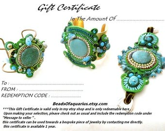 jewelry Gift certificate one hundred dollar , last minute gift ideas , gift card , holiday gift , gift voucher hundred dollars