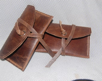 Handmade 100% Bull Hide Leather pouch/purse