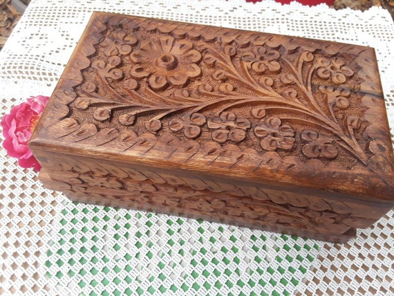 Trinket box puzzle Box Jewelry Box rosewood keepsake