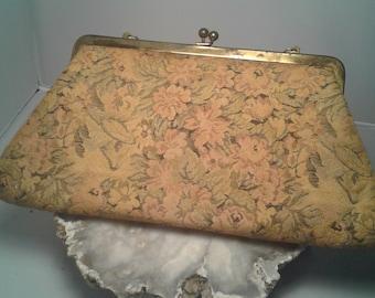 Faded Flowers Tapestry Handbag