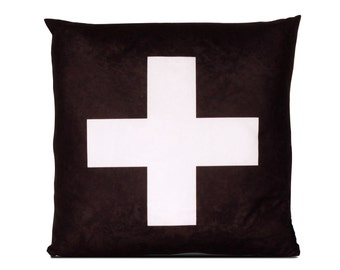 Decorative pillow Cross black
