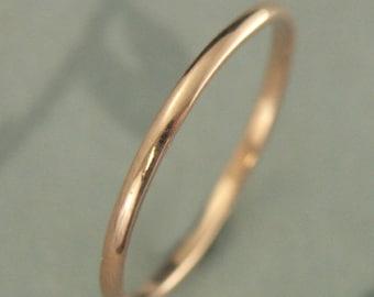 Thin Rose Gold Ring~10K Rose Gold Band~Petite Ring~Women's Wedding Band~Women's Wedding Ring~Rose Gold Stacking Ring~Thin Gold Band